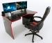 Стол ZEUS TRON Stalker черный/красный Фото 0