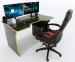 Стол ZEUS TRON Stalker черный/зеленый Фото 0
