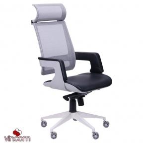 Кресло AMF Axon каркас белый, сетка черная