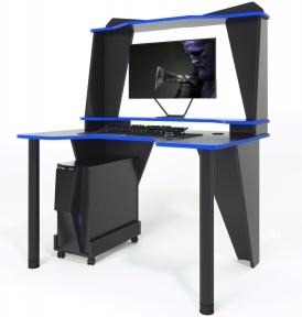 Стол геймерский ZEUS IVAR-3 черный/синий
