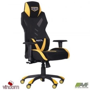 Кресло AMF VR Racer Radical Wrex черный/желтый