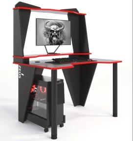 Стол геймерский ZEUS IVAR-3 черный/красный
