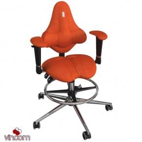 Кресло Kulik System Kids ring base, антара, морковный (ID 1504)