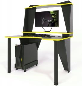 Стол геймерский ZEUS IVAR-3 черный/желтый