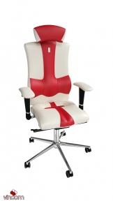 Кресло Kulik System Elegance белый+красный (ID 1003)
