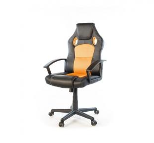 Кресло Аклас Анхель NEW PL TILT чёрно-оранжевый