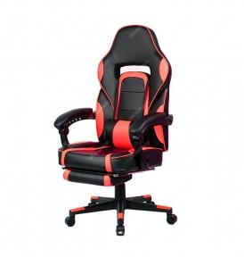 Кресло геймерское Goodwin Parker black/red с подставкой
