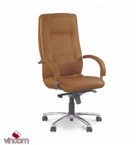 Кресло Новый Стиль STAR steel chrome (Кожа Сплит SP-A)