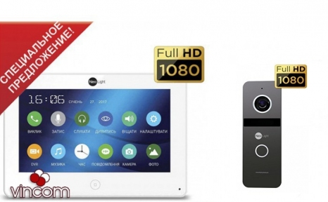 Комплект видеодомофона NeoLight Alpha HD и Solo FHD graphite
