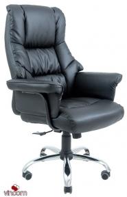 Кресло Richman Конгресс Хром черный (эко кожа)