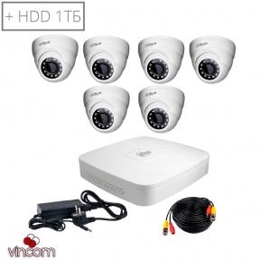 Комплект видеонаблюдения Dahua HDCVI-6D KIT + HDD1000