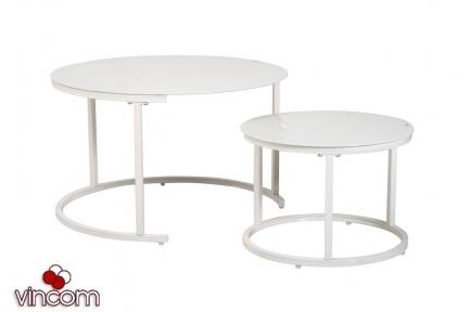Комплект журнальных столов Vetro CS-25 белый