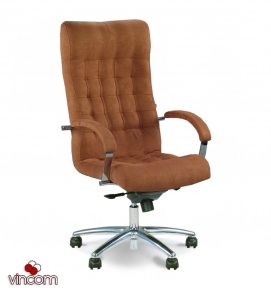 Кресло Новый Стиль LORD steel chrome (Кожа Сплит SP-A)