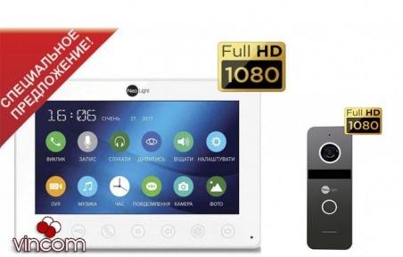 Комплект видеодомофона NeoLight Omega plus HD и Solo FHD graphite