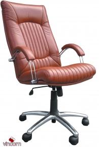 Кресло Примтекс Плюс Favorit Steel (кожа Люкс)