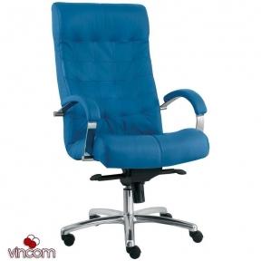 Кресло Новый Стиль LORD steel chrome (Кожа Люкс LE)