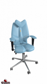 Кресло Kulik System Fly экокожа, светло-синий (ID 1303)