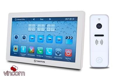 Комплект видеодомофона Tantos Violet 10 White и iPanel 2