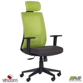 Кресло AMF Scrum лайм/черный