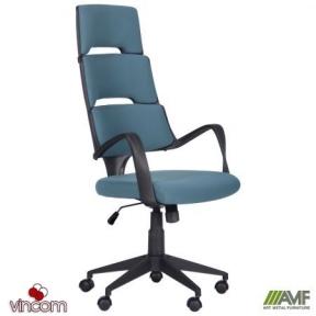 Кресло AMF Spiral Black стальной синий
