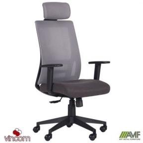 Кресло AMF Scrum серый/черный