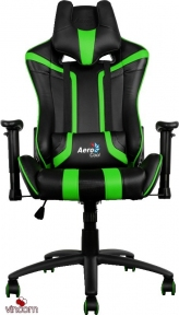 Кресло AeroCool AC120BG Gaming Chair Black-Green