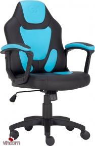 Кресло геймерское детское GT RACER X-1414 BLACK/LIGHT BLUE