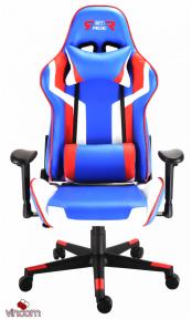 Кресло геймерское GT Racer X-2530 Blue/White/Red