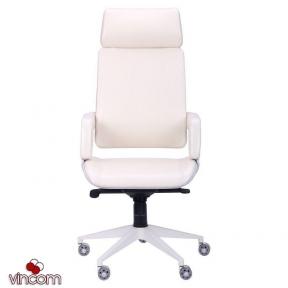 Кресло AMF Axon каркас белый, к/з ваниль