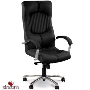 Кресло Новый Стиль GERMES steel chrome (Кожа Люкс LE)