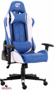 Кресло геймерское GT Racer X-2579 Blue/White