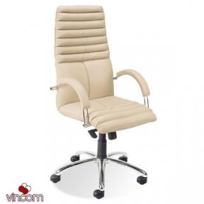 Кресло Новый Стиль GALAXY steel chrome (Кожа Люкс LE)