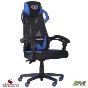 Кресло AMF VR Racer Radical Garrus черный/синий