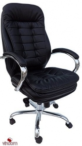 Кресло Примтекс Плюс Barselona Chrome (кожа Люкс)