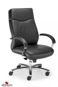 Кресло Новый Стиль RAPSODY steel chrome (Кожа Люкс LE)