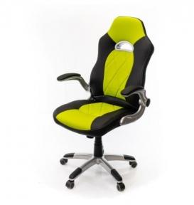Кресло Аклас Форсаж-8 PL GTR TILT чёрно-салатовый
