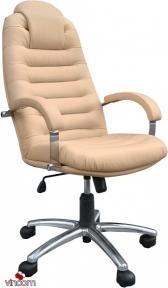 Кресло Примтекс Плюс Tunis P Steel chrome (кожа Люкс)