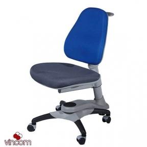 Кресло Goodwine OXFORD (KY618) спинка синяя сидение серое