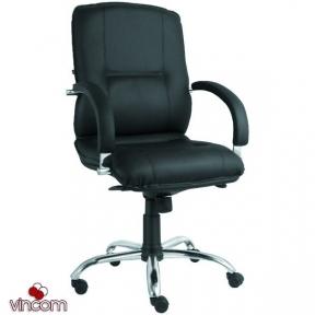 Кресло Новый Стиль Star steel LB chrome (кожа Люкс LE)