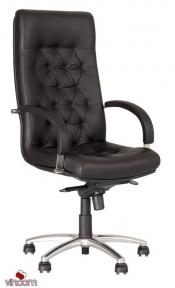 Кресло Новый Стиль FIDEL steel chrome (Кожа Люкс LE)