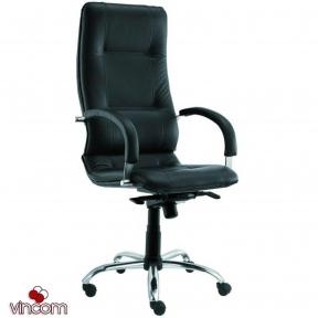 Кресло Новый Стиль STAR steel chrome (Кожа Люкс LE)