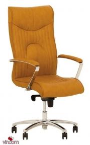 Кресло Новый Стиль FELICIA steel chrome (Кожа Люкс LE)