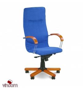 Кресло Новый Стиль NOVA wood chrome (Кожа Люкс LE)
