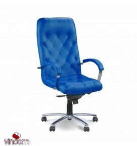 Кресло Новый Стиль CUBA steel chrome (Кожа Люкс LE)