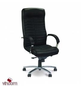 Кресло Новый Стиль ORION steel chrome (Кожа Люкс LE)