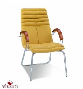 Кресло Новый Стиль GALAXY wood CFA LB chrome (Экокожа)