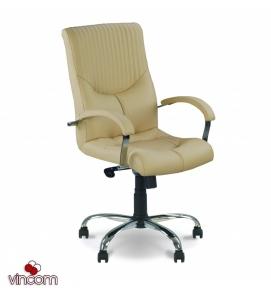 Кресло Новый Стиль GERMES steel chrome LB (Экокожа)