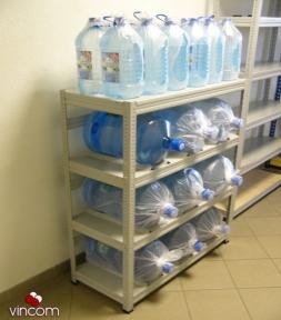 Стеллаж Практик SB 125/100x42/4 для хранения воды серый