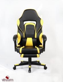 Кресло геймерское Goodwin Parker black/yellow с подставкой