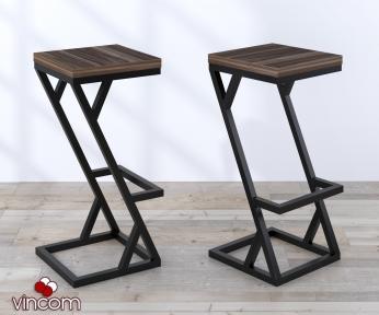 Стул барный Loft Design BS-2 орех-модена